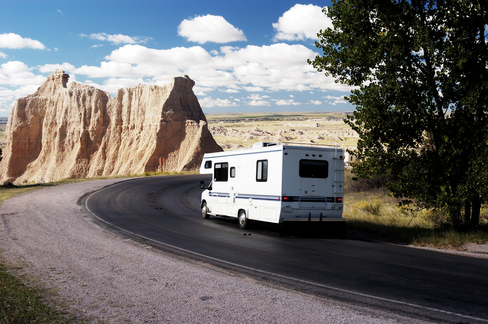 RV Driving in National Park
