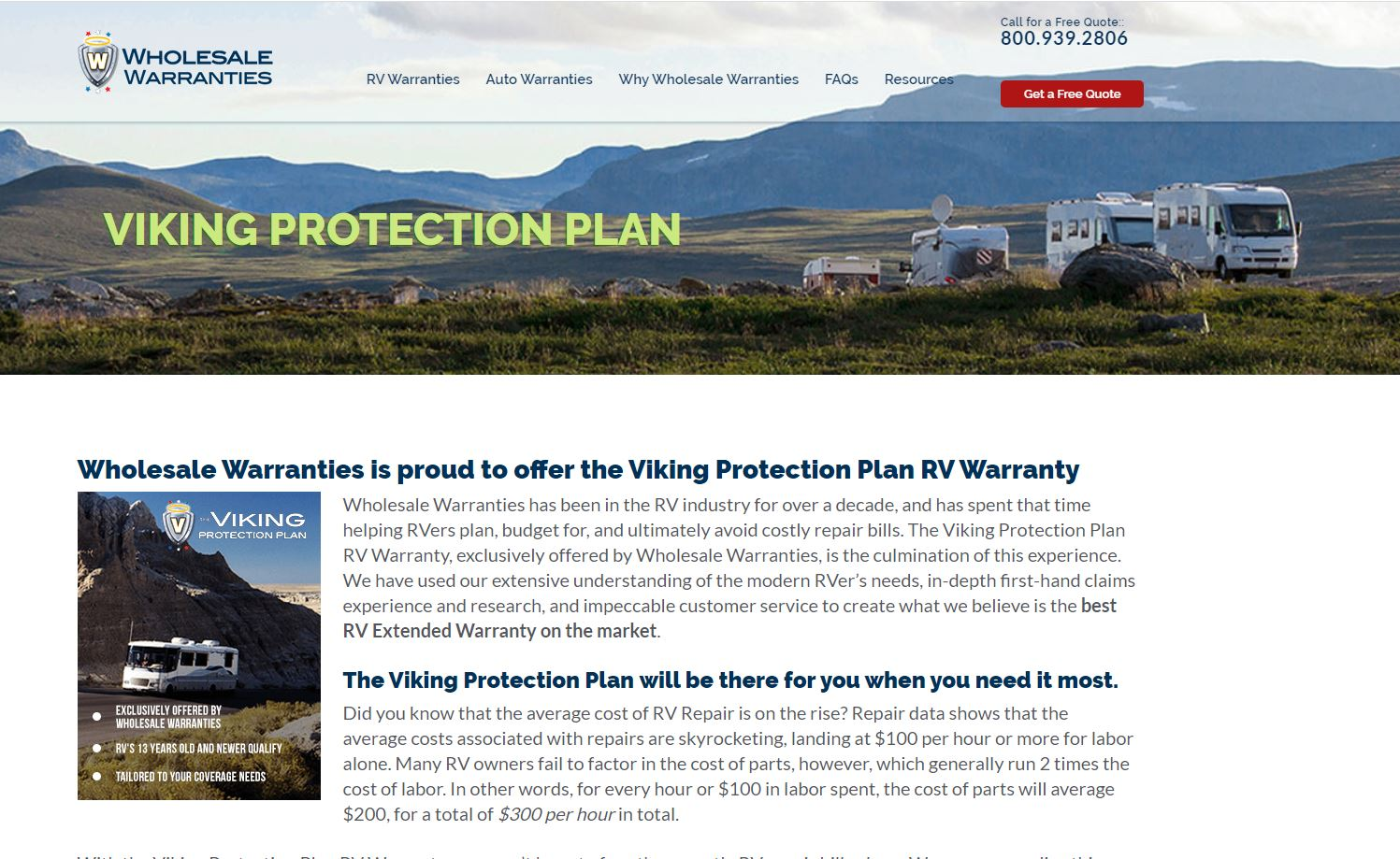 Viking Protection RV Extended Warranty