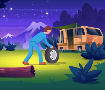 16.A Spare Tyre + Roadside Emergency Kit