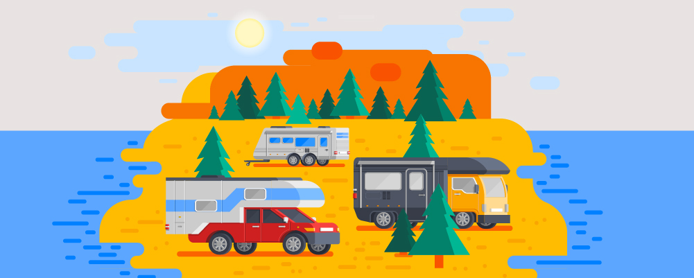 3 Camper vans camp in the middle of nowhere