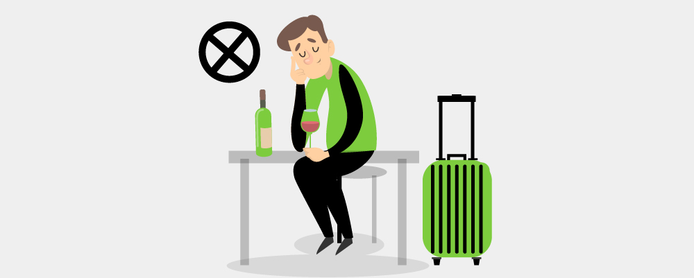 Man travelling solo drunk and leave his things unattended